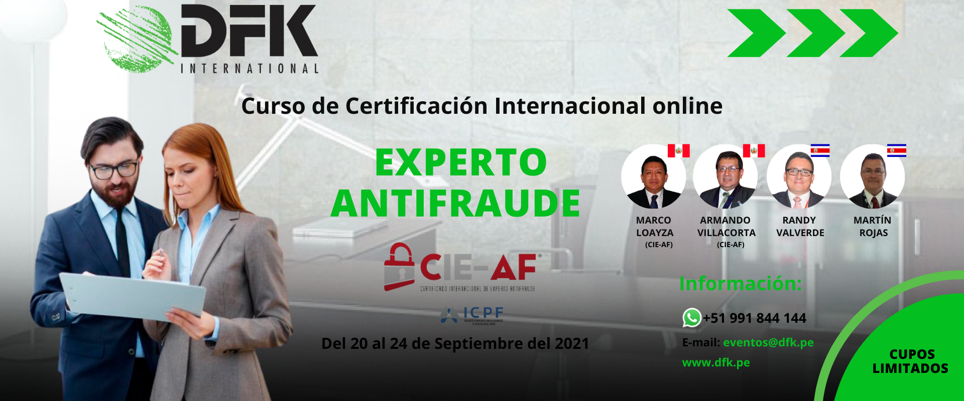 Curso Certificado Internacional de Experto Antifraude (CIEAF) Online WEB